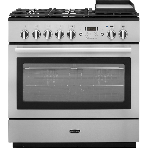 Rangemaster Professional Plus FX PROP90FXDFFSS/C 90cm Dual Fuel Range Cooker - Stainless Steel / Chrome - A Rated
