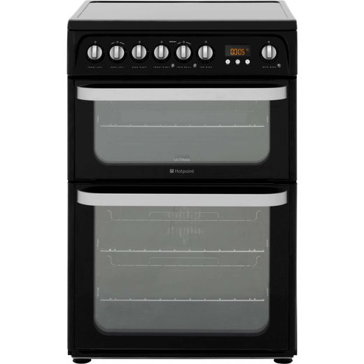 Hotpoint Ultima HUE61KS Electric Cooker - Black - Needs 10.7KW Electrical Connection