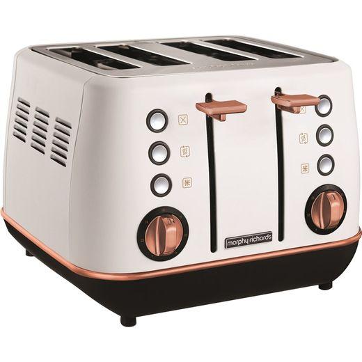 Morphy Richards Evoke Special Edition 240115 4 Slice Toaster - White / Rose Gold
