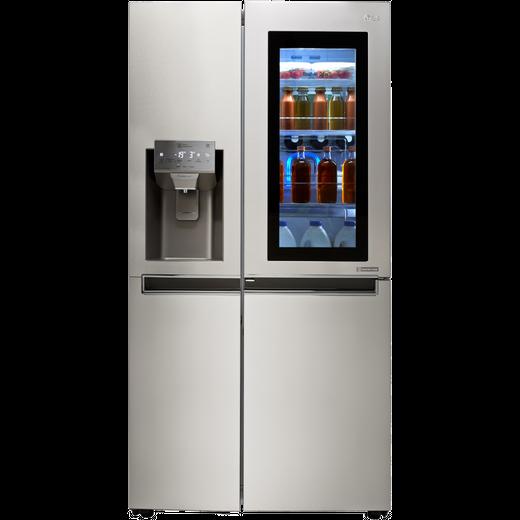 LG InstaView™ Door-in-Door™ GSX961NSVZ Wifi Connected American Fridge Freezer - Stainless Steel - F Rated