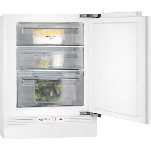 AEG ABE682F1NF Integrated Frost Free Under Counter Freezer with Fixed Door Fixing Kit - F Rated