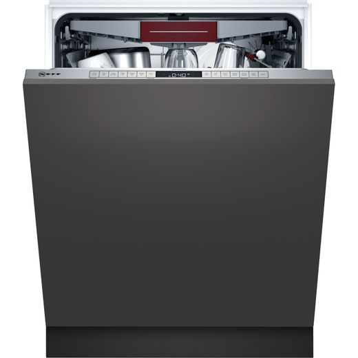 NEFF N50 S195HCX26G Wifi Connected Fully Integrated Standard Dishwasher - Stainless Steel Control Panel - D Rated