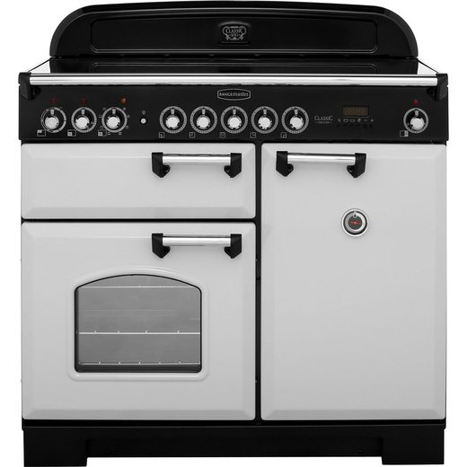 Rangemaster Classic Deluxe CDL100EIRP/C 100cm Electric Range Cooker with Induction Hob - Royal Pearl - A/A Rated