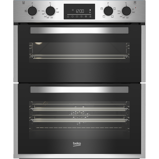Beko BBTF26300X Built Under Electric Double Oven - Stainless Steel - A/A Rated