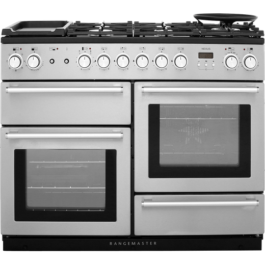 Rangemaster Nexus NEX110DFFSS/C 110cm Dual Fuel Range Cooker - Stainless Steel - A/A Rated