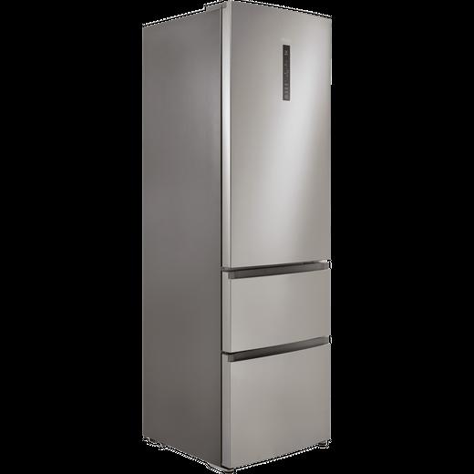 Haier HTR3619FNMP 60/40 Frost Free Fridge Freezer - Platinum Inox - F Rated