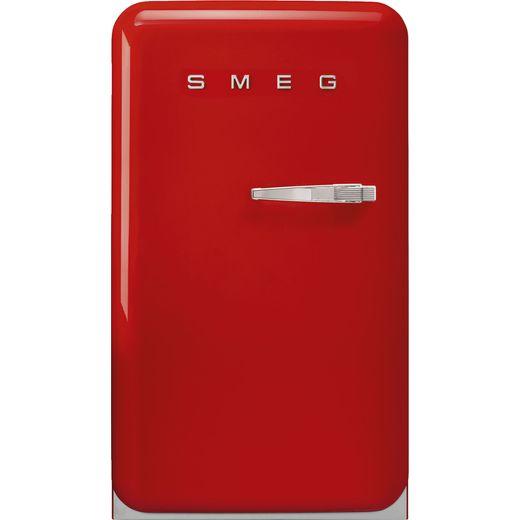 Smeg Left Hand Hinge FAB10LRD5 Fridge with Ice Box - Red - E Rated