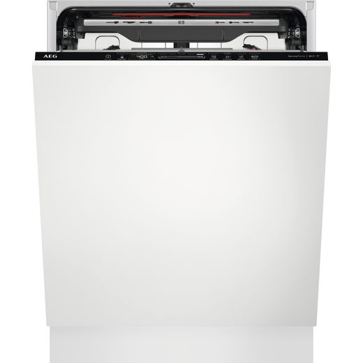 AEG FSS83708P Wifi Connected Fully Integrated Standard Dishwasher - Black Control Panel - D Rated