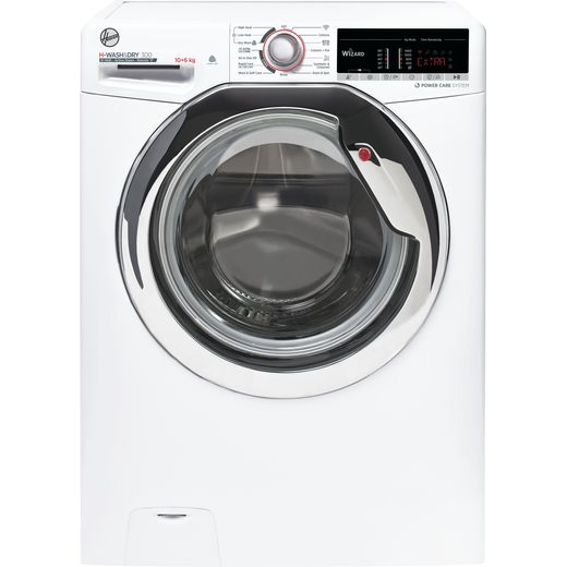 Hoover H-WASH 300 H3DS41065TACE Wifi Connected 10Kg / 6Kg Washer Dryer with 1400 rpm - White - E Rated