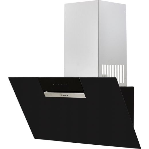 Bosch Serie 2 DWK87EM60B 80 cm Angled Chimney Cooker Hood - Black - B Rated