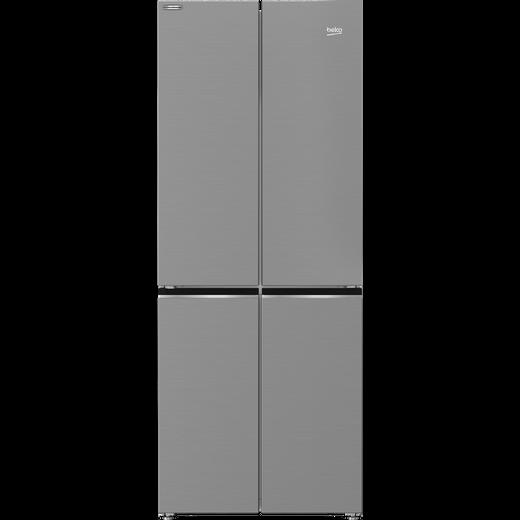 Beko HarvestFresh GNE480IC3VPX American Fridge Freezer - Brushed Steel - F Rated