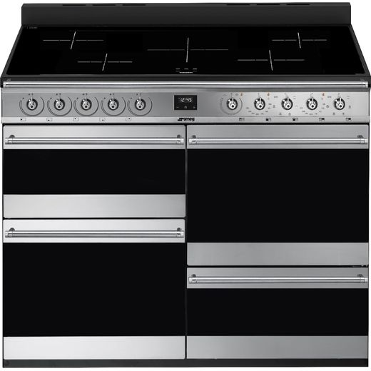 Smeg SYD4110I-1 Electric Range Cooker with Induction Hob - Stainless Steel - A/A Rated