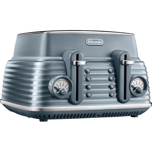 De'Longhi Scolpito CTZS4003.AZ 4 Slice Toaster - Blue