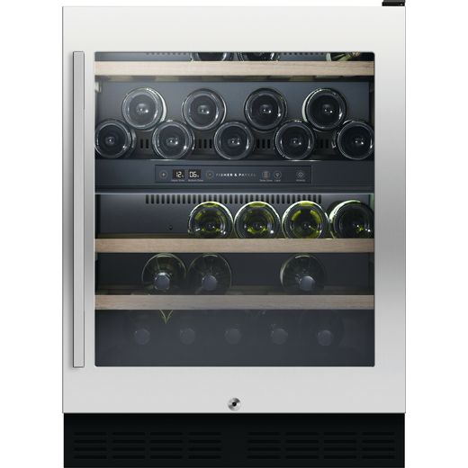 Fisher & Paykel RS60RDWX2 Built In Wine Cooler - Stainless Steel - G Rated