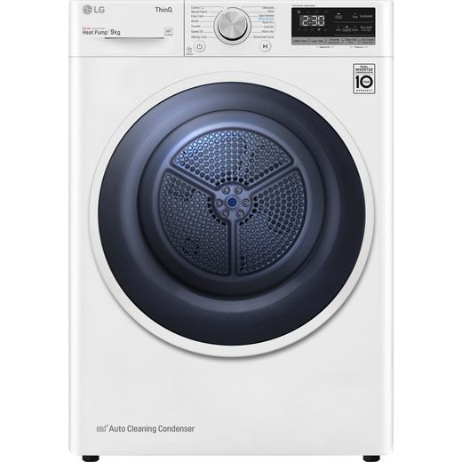LG V3 FDV309W Wifi Connected 9Kg Heat Pump Tumble Dryer - White - A++ Rated