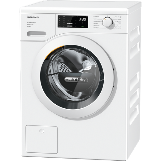 Miele WTD163 Wifi Connected 8Kg / 5Kg Washer Dryer with 1500 rpm - White - D Rated