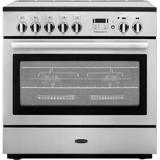Rangemaster Professional Plus FX PROP90FXEISS/C 90cm Electric Range Cooker with Induction Hob - Stainless Steel - A Rated