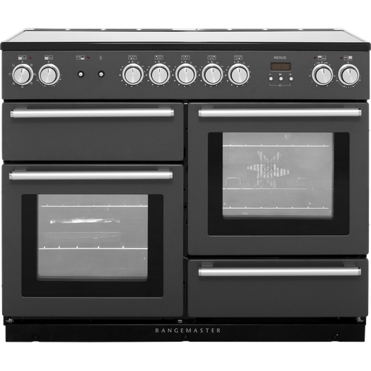 Rangemaster Nexus NEX110EISL/C 110cm Electric Range Cooker with Induction Hob - Slate - A/A Rated
