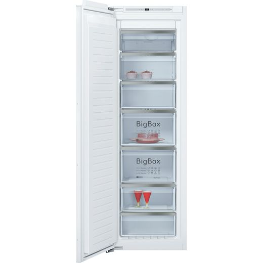 NEFF N90 GI7815CE0G Integrated Frost Free Upright Freezer with Fixed Door Fixing Kit - E Rated