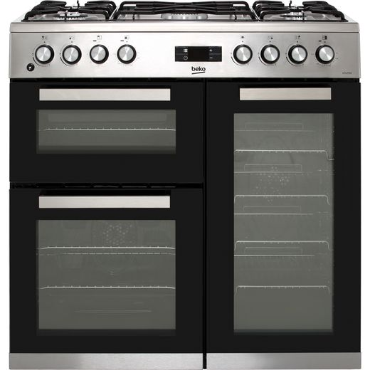 Beko KDVF90X 90cm Dual Fuel Range Cooker - Stainless Steel - A/A Rated