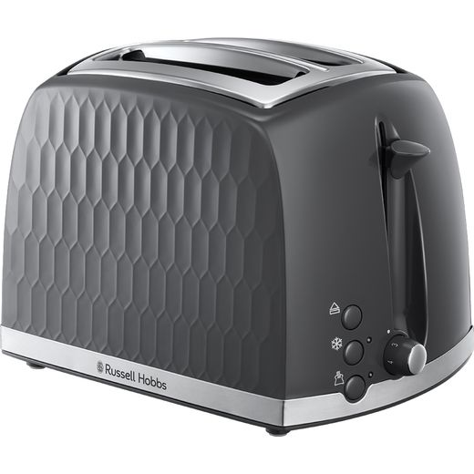 Russell Hobbs Honeycomb 26063 2 Slice Toaster - Grey