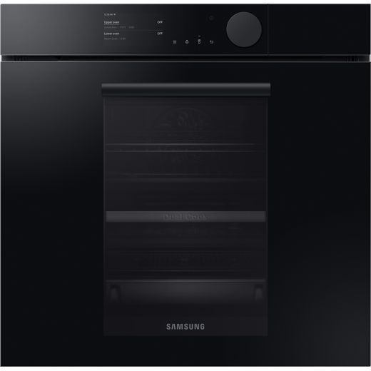 Samsung Infinite NV75T8979RK Wifi Connected Built In Electric Single Oven with added Steam Function - Onyx Black - A+ Rated