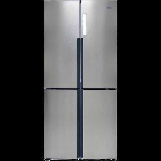 Haier HTF-556DP6 American Fridge Freezer - Silver - F Rated