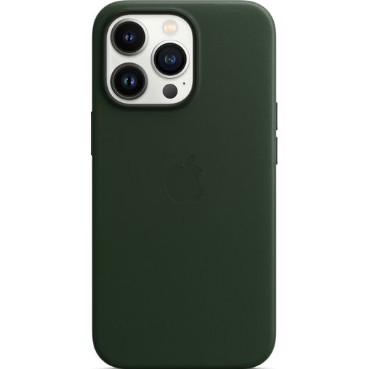 Apple Leather Case with Magsafe for iPhone 13 Pro - Sequoia Green