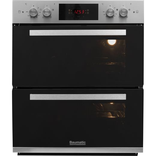 Baumatic BOS243X Built Under Electric Double Oven - Stainless Steel - A/A Rated