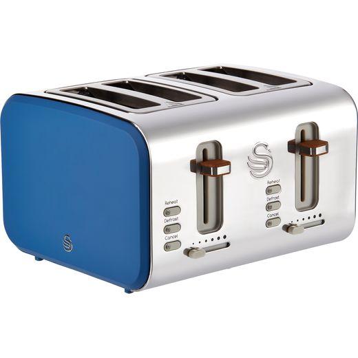 Swan Nordic ST14620BLUN 4 Slice Toaster - Blue