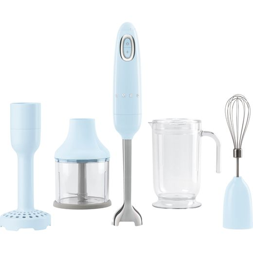 Smeg 50's Retro HBF02PBUK Hand Blender with 4 Accessories - Pastel Blue