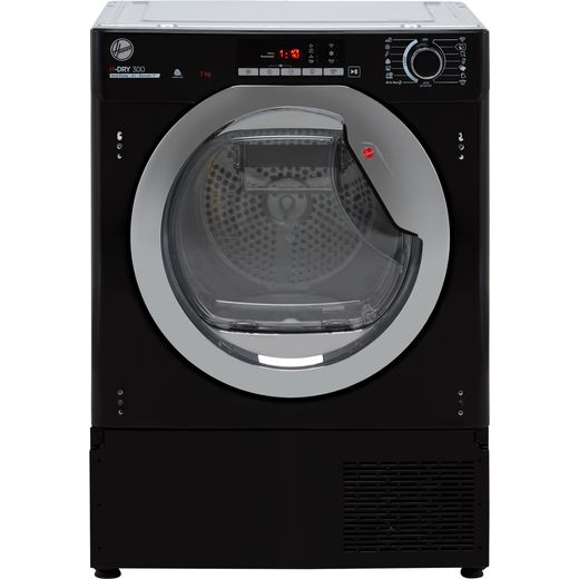Hoover BATDH7A1TCEB Integrated Wifi Connected 7Kg Heat Pump Tumble Dryer - Black - A+ Rated