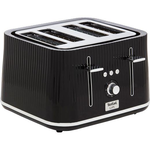 Tefal Loft TT760840 4 Slice Toaster - Black