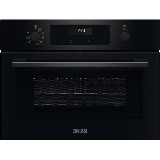 Zanussi Series 60 ZVENM6K2 Built In Compact Electric Single Oven with Microwave Function - Black