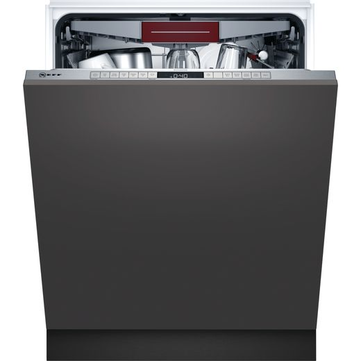 NEFF N50 S395HCX26G Fully Integrated Standard Dishwasher - Stainless Steel Control Panel - D Rated