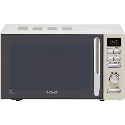 Tower T24019C Microwave - Cream