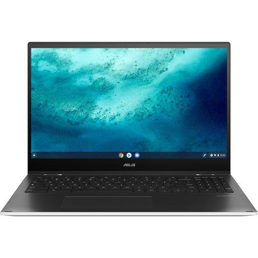 "Asus Flip CX5 15.6"" 2-in-1 Chromebook Laptop - White"