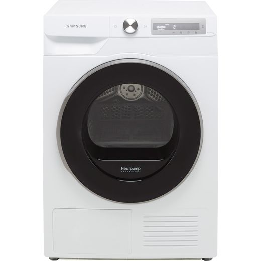 Samsung Series 6 OptimalDry™ DV90T6240LH Wifi Connected 9Kg Heat Pump Tumble Dryer - White - A+++ Rated