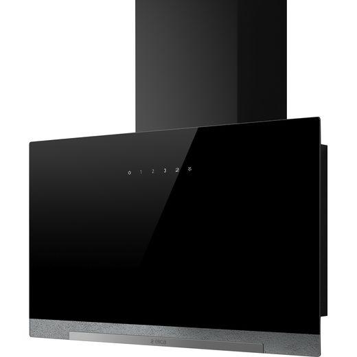 Elica APLOMB-BLK-60 60 cm Chimney Cooker Hood - Black Glass - A Rated