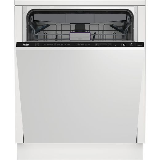 Beko BDIN38640F Fully Integrated Standard Dishwasher - Black Control Panel - C Rated