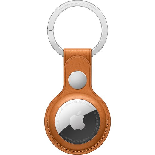 Apple AirTag Leather Keyring - Golden Brown