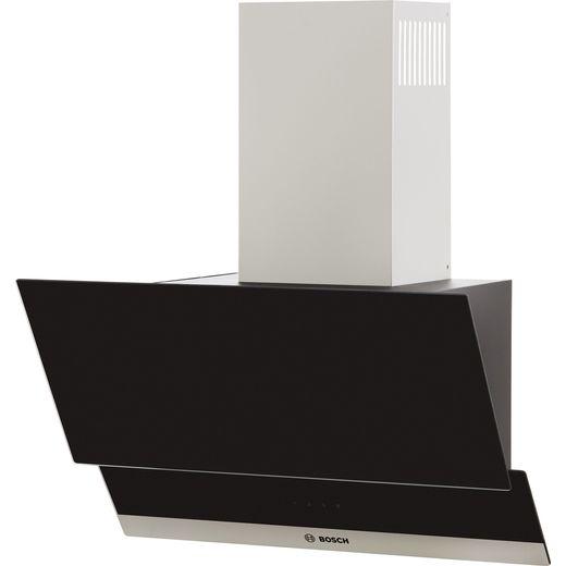 Bosch Serie 4 DWK065G60B 60 cm Angled Chimney Cooker Hood - Black - C Rated