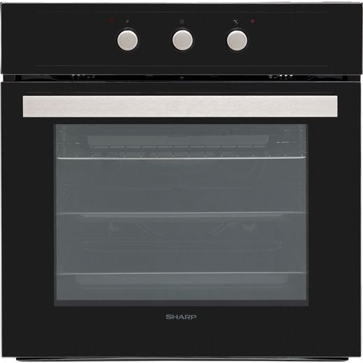 Sharp K-60M15BL2-EU Built In Electric Single Oven - Black - A Rated