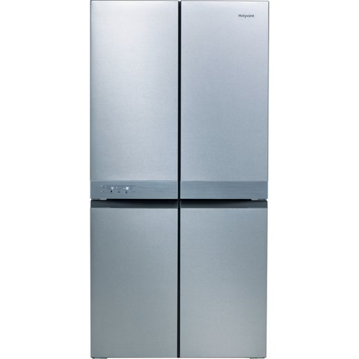 Hotpoint HQ9B1L1 American Fridge Freezer - Stainless Steel Effect - F Rated