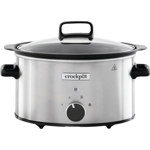 Crockpot CSC086 6.5 Litre Slow Cooker - Black / Stainless Steel