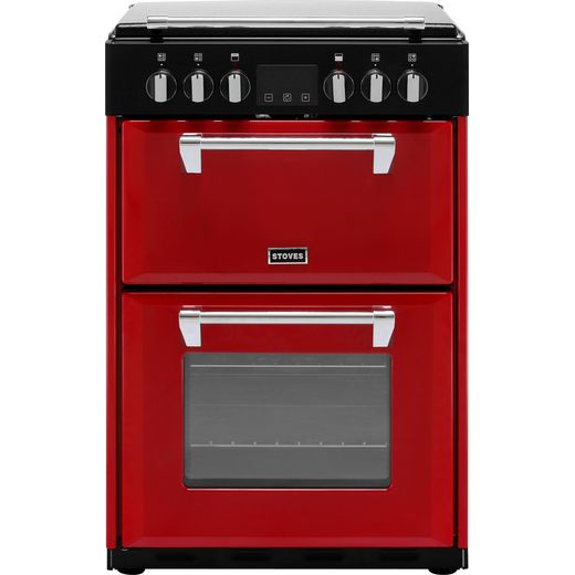 Stoves Richmond600E 60cm Electric Cooker with Ceramic Hob - Hot Jalapeno - A/A Rated