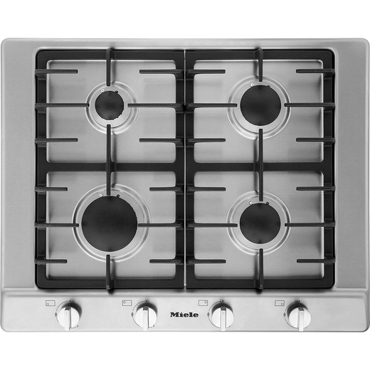 Miele KM2010 Built In Gas Hob - Clean Steel