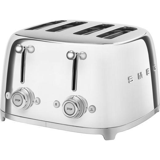 Smeg 50's Retro TSF03SSUK 4 Slice Toaster - Stainless Steel