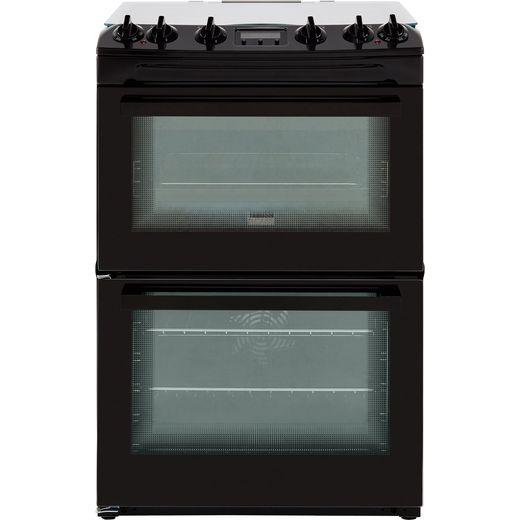 Zanussi ZCK66350BA Dual Fuel Cooker - Black - Needs 5.2KW Electrical Connection