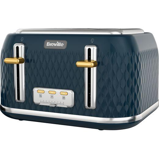 Breville Curve VTT965 4 Slice Toaster - Navy Blue / Gold